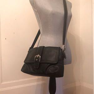 Vintage Coach Leather Saddle Crossbody Bag